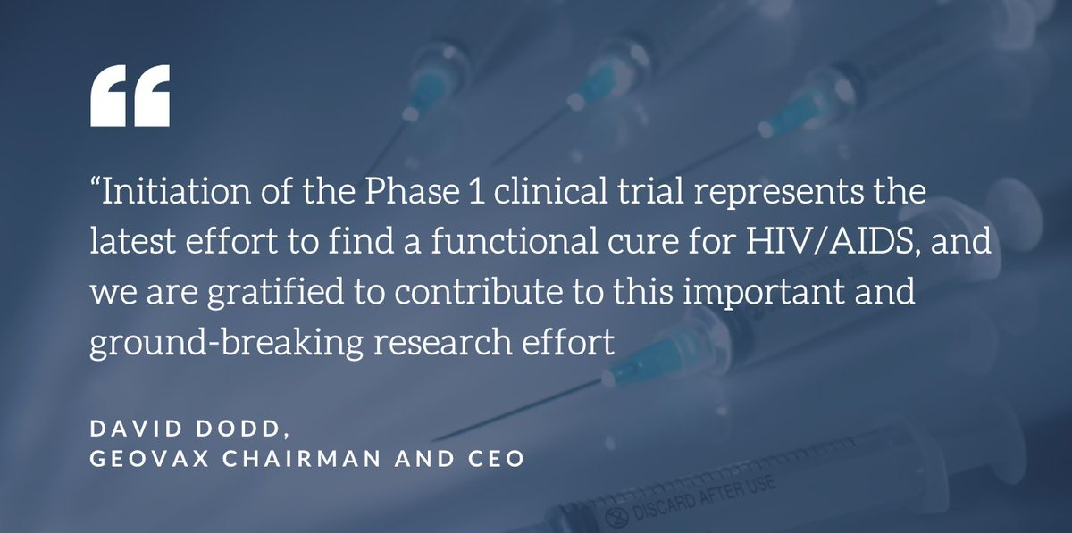 """GeoVax's recently initiated Phase I study is designed to induce remission in HIV-positive individuals, also known as a """"functional cure.""""  https://t.co/tH67DcD0JW #HIV #patients #vaccine $GOVX https://t.co/kZwLDXJ2xZ"""