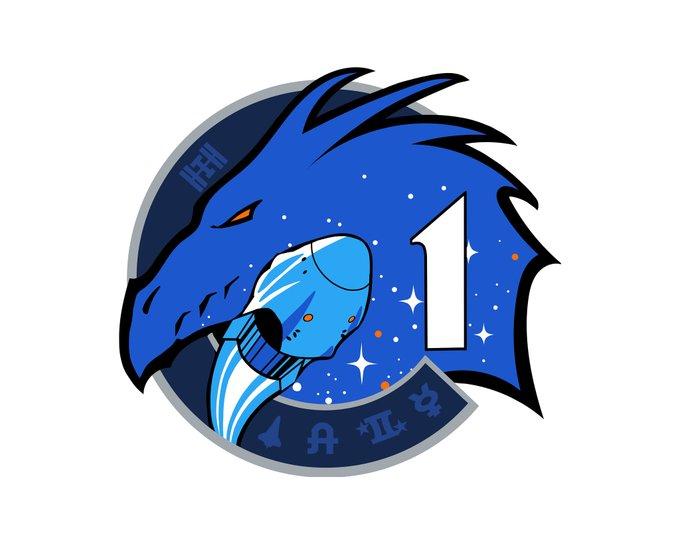 Эмблема первой пилотируемой  миссии крю Дрэгона