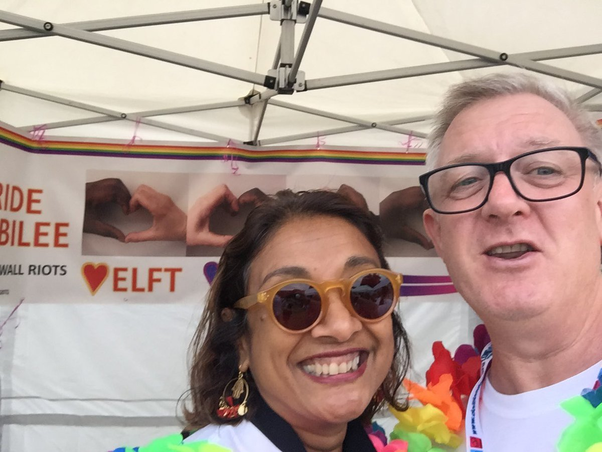 A sad farewell today to my great friend @NavinaEvans . This woman has given me such opportunity to grow as a leader. An inclusive leader who is the biggest #LGBTQAlly. We will always love @ELFT_LGBTQ . You will always be welcome on our bus ❤️❤️❤️ https://t.co/c3anjzcqKP