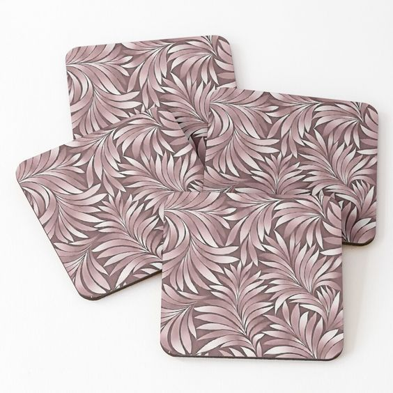 #DramaticLeaves In #Mulberry #Pastel by taiche | Redbubble #Checkitout #FindYourThing Lightweight one-sided printed masonite board #coasters with cork backing Available in sets of 4 #ATSocialMediaUK @redbubble https://t.co/Ea8J7mokKc https://t.co/rLKRyLqhQe
