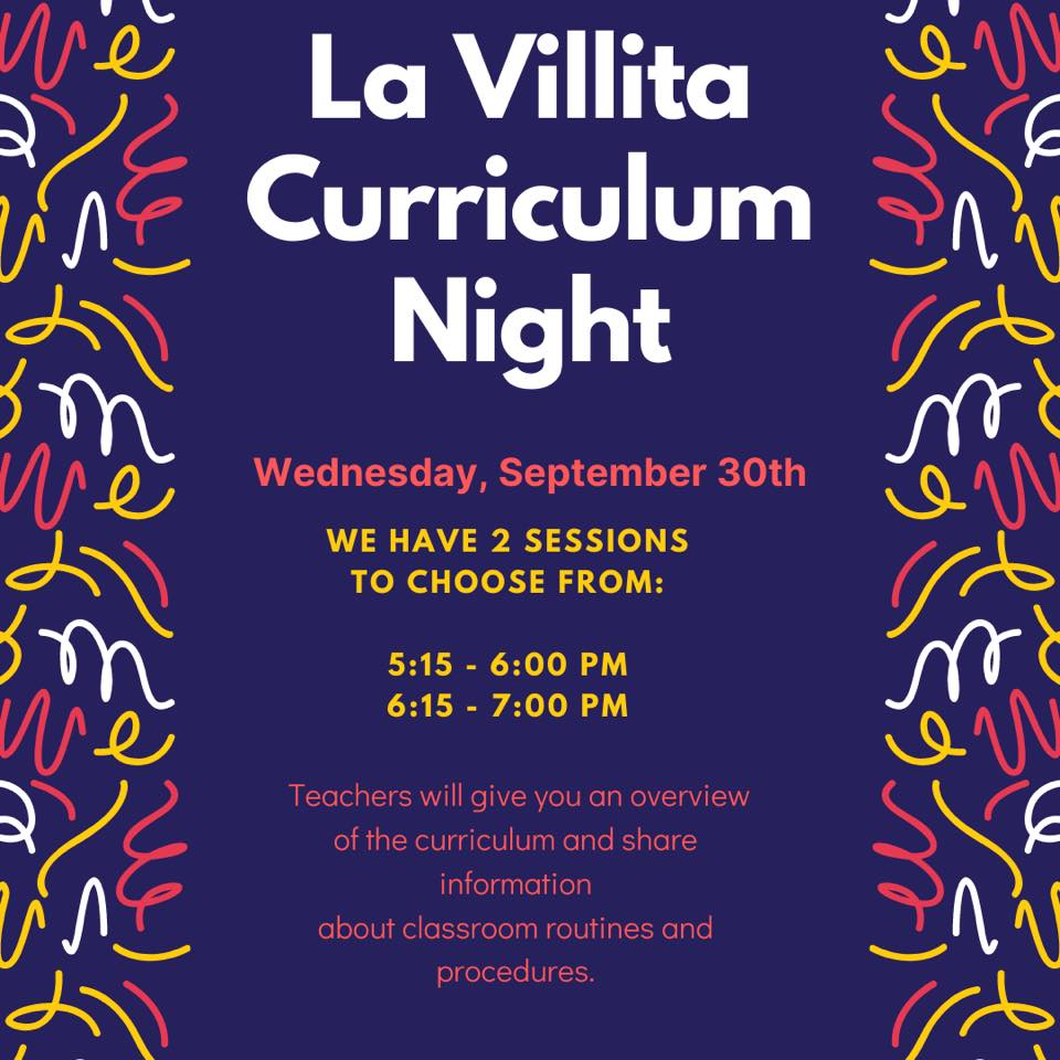 Curriculum Night is just one day away!  We hope you will be able to join us tomorrow night.  #TogetherWeCan https://t.co/OiczQnUgFd