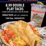 Let's get excited, the MLB Playoffs start today! Play a little hooky & join us for an awesome day full of Baseball! Enjoy our great Tuesday Specials while you take in the games! 😁⚾️🌮 -Astros v Twins @ 1p -White Sox v Athletics @ 2p -Blue Jays v Rays @ 4p -Yankees v Indians @ 6p