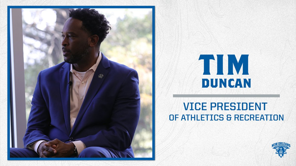 BREAKING: Tim Duncan promoted to VP of Athletics & Recreation  📰 https://t.co/ddVKYGDWZX  #NOLAsTeam⚔️ https://t.co/qt7WH9wm6G