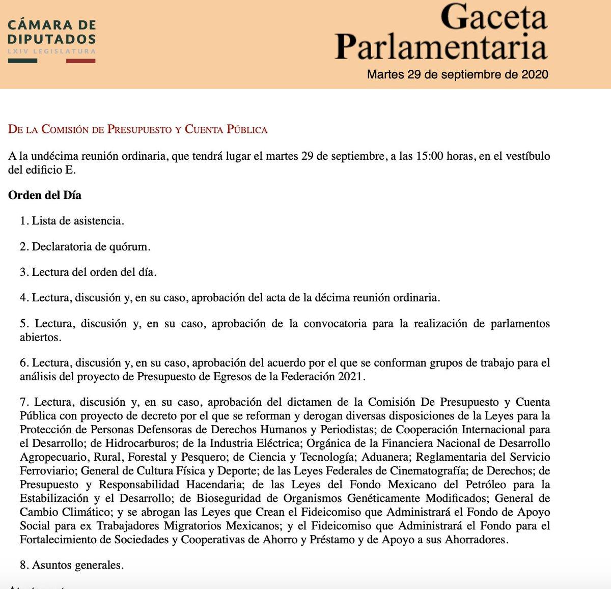 En México, a las 15:00 hrs de hoy, 29 septiembre, se discute y vota, en la Comisión de Presupuesto de la Cámara de Diputados, el proyecto de decreto que extingue los fideicomisos de investigación científica #FideicomisoPorLaCiencia #FideicomisosDeCiencia https://t.co/7Ua0Y7ja7p