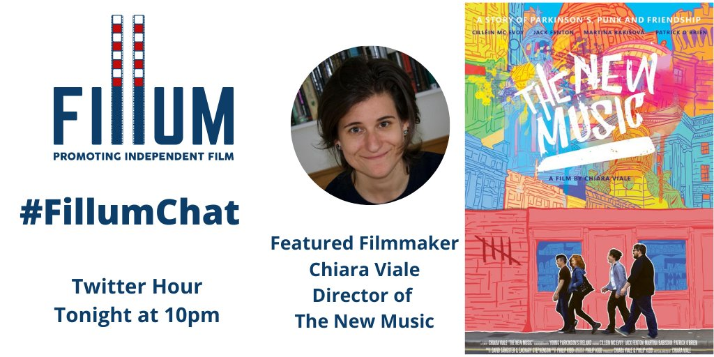 #FillumChat is tonight at 10pm over @FillumIre  Special guest is @ChiaraXViale  writer/director of @thenewmusicfilm 🎶🎬  All are welcome to pop in and chat with us and share any film news you have!   #indiefilm #filmfestivals #irishfilm #womeninfilm #directedbywomen #filmtwitter https://t.co/ITr2lGN82A