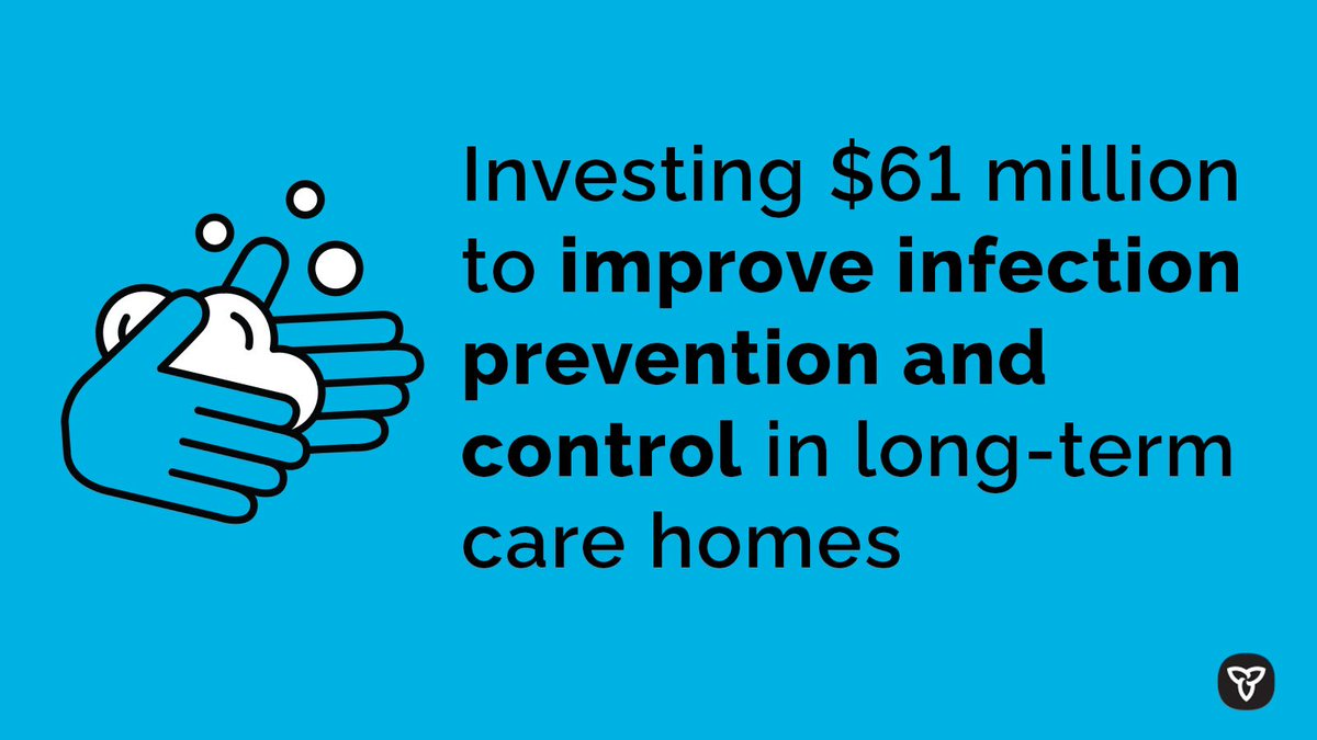 Today, our government announced a $61.4 million investment for #LongTermCare renovations. This investment will help with physical distancing, upgrading HVAC systems, and repairing or replacing furniture and equipment. Meeting the needs of seniors is one of our top priorities.