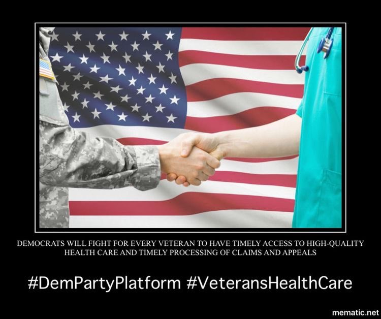 #Democrats believe we need to protect, strengthen, and build upon our bedrock health care programs, including the Affordable Care Act, Medicare, Medicaid, and the Veterans Affairs (VA) system.2/11  #DemPartyPlatform  #Healthcare