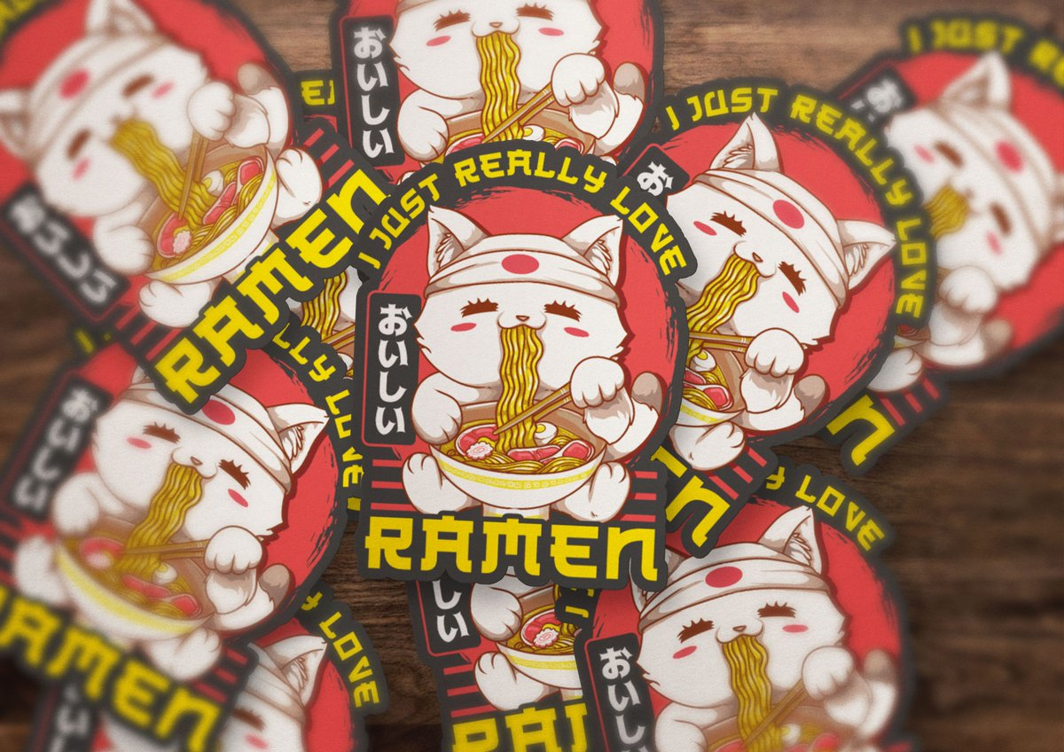 Pass me all the noodles, please! My birthday is coming up and I'm thinking NOODLES for my birthday meal. 😁  ... #ramen #noodles #iloveramen #ramenkitty #ramensticker #stickers #stickershop #vinyldecal #vinylsticker #labels #customlabels #heirloomink #smallbusiness https://t.co/OBmFM4Defz