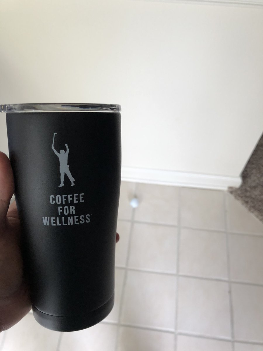 I got my complimentary @ForWellness membership tumbler and coffee today! Tomorrow will be a perfect cool and windy morning to try it out! Thanks @PhilMickelson! This will keep me on my game of providing accurate weather via the @WeatherPorthole! It's great for golf courses! 🏌️♂️ ⛳️