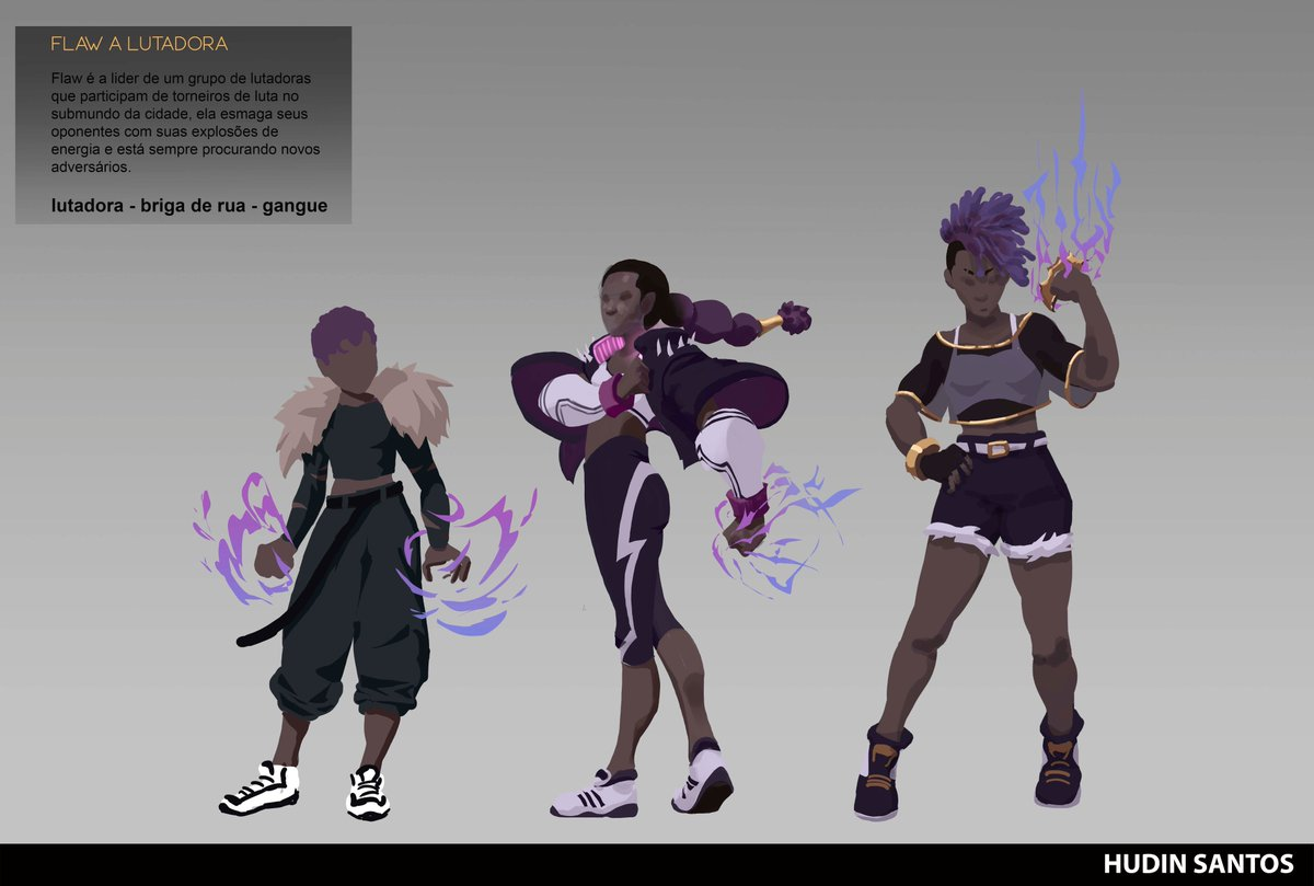 Course assignment  Flaw, she is the leader of a gang that take part in underground fights. #characterdesign  #hudinart #concept #drawingwhileblack https://t.co/wmmKoHEj9N