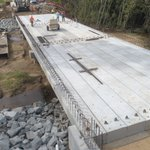 Image for the Tweet beginning: Bridge replacement construction Brock Rd
