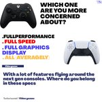 Image for the Tweet beginning: Performance, speed or graphics. #videogaming #ps5