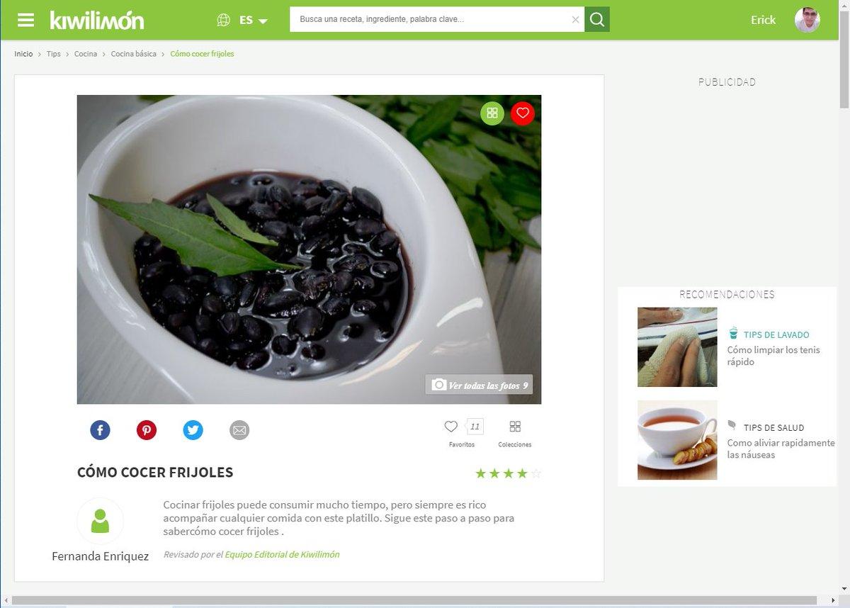 Sabes que ya creciste cuando te haces una cuenta en una pagina de recetas xD #KiwiLimon #recetas #comida #risas https://t.co/aoJJ0MlFRo