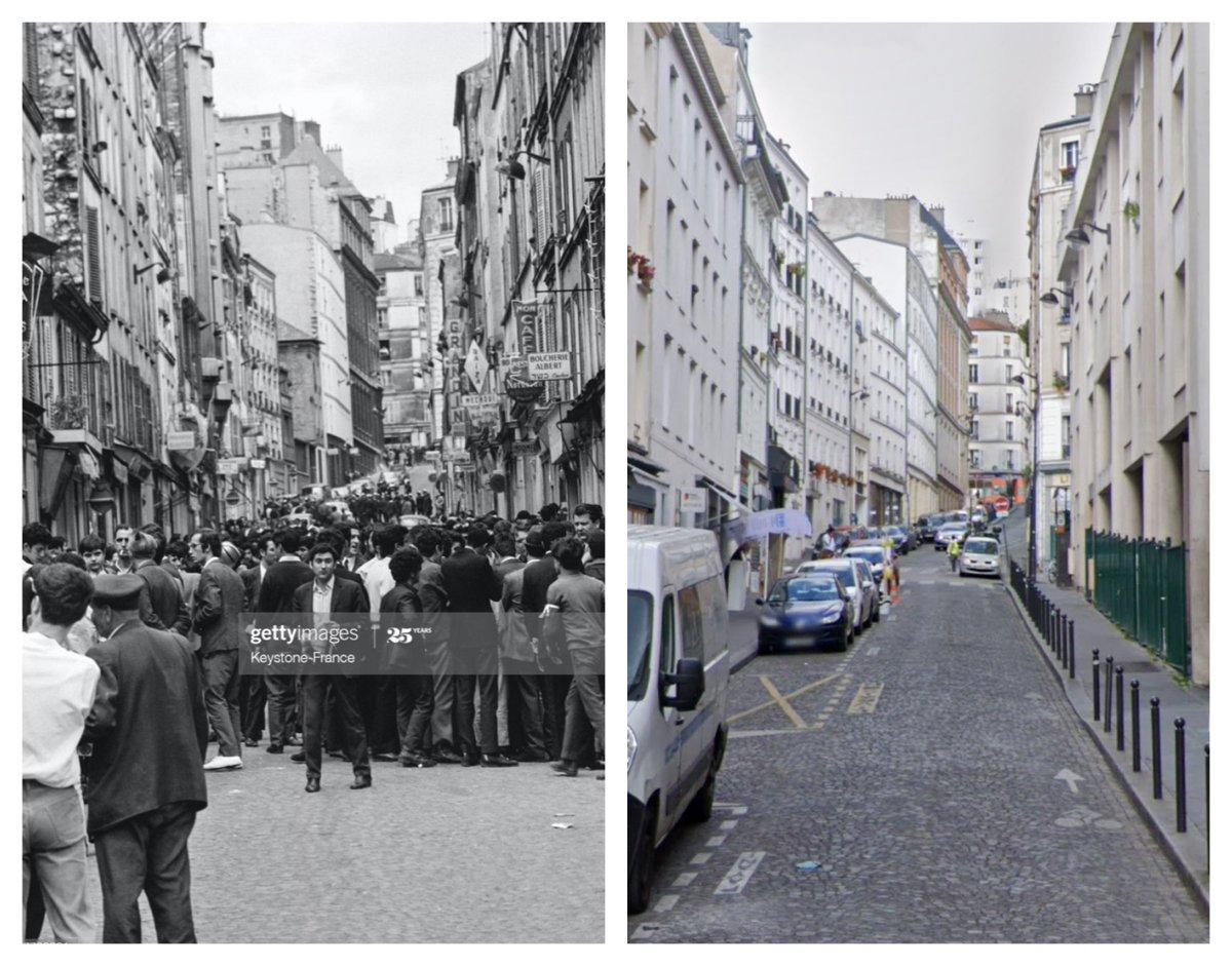 Rue Ramponneau, Paris, 1968 and today. Historic image via Getty Images. #Paris #thenandnow #avantetapres #voyagerdansletemps #history #histoire #parisperdu #ruesdeparis #ParisJeTaime #ParisMonamour https://t.co/1bEHNDihLy
