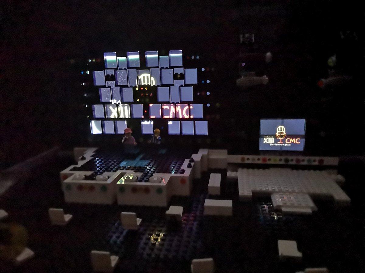 Primer contacto de los presentadores con el escenario de la XIII Copa Mundial de la Canción 🎤 #CMC #LEGO #legomania #SongContest #Music #Eurovision #stage #staging #illumination #stagedesign #Stagelights #lightdesign #performance #legoperformance https://t.co/tODcgqPYac