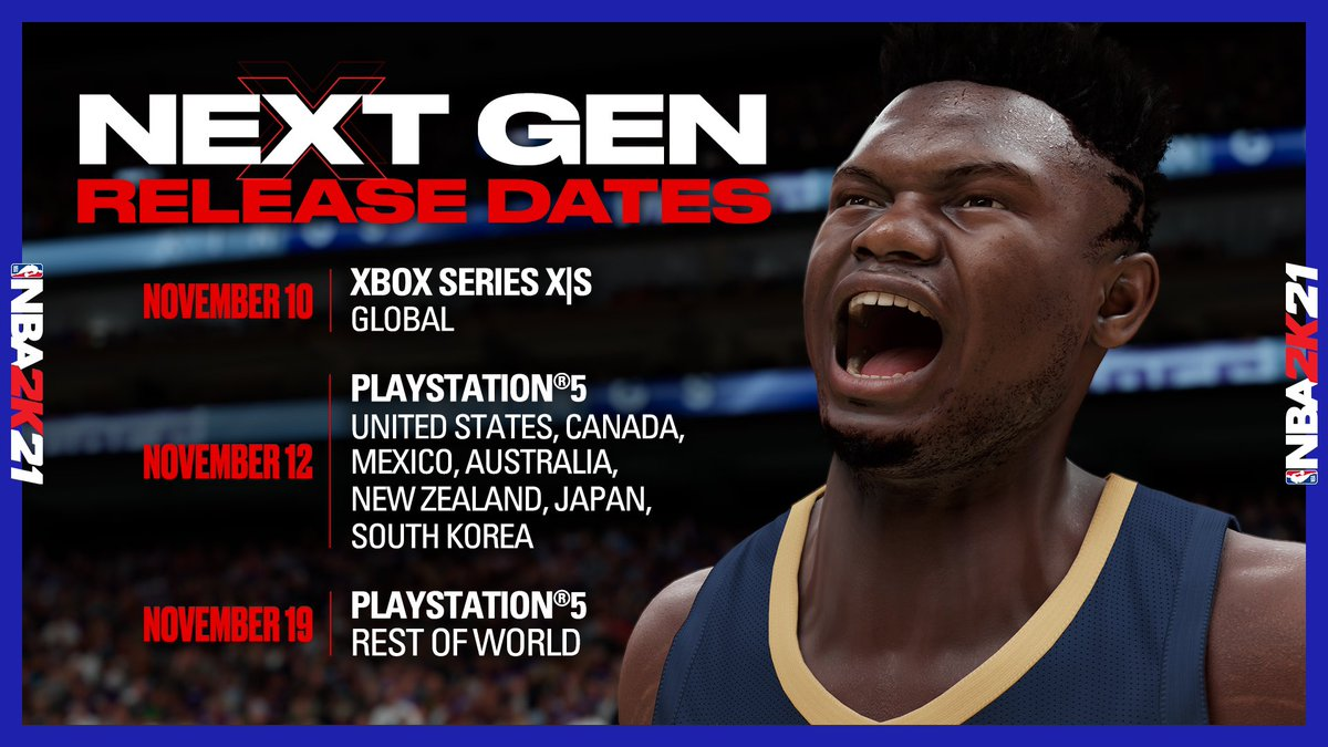 Nba 2k21 On Twitter Nba2k21 Next Gen Is Coming Ps5 And Xbox Series X S Digital Pre Orders Https T Co Vvoedfgqau