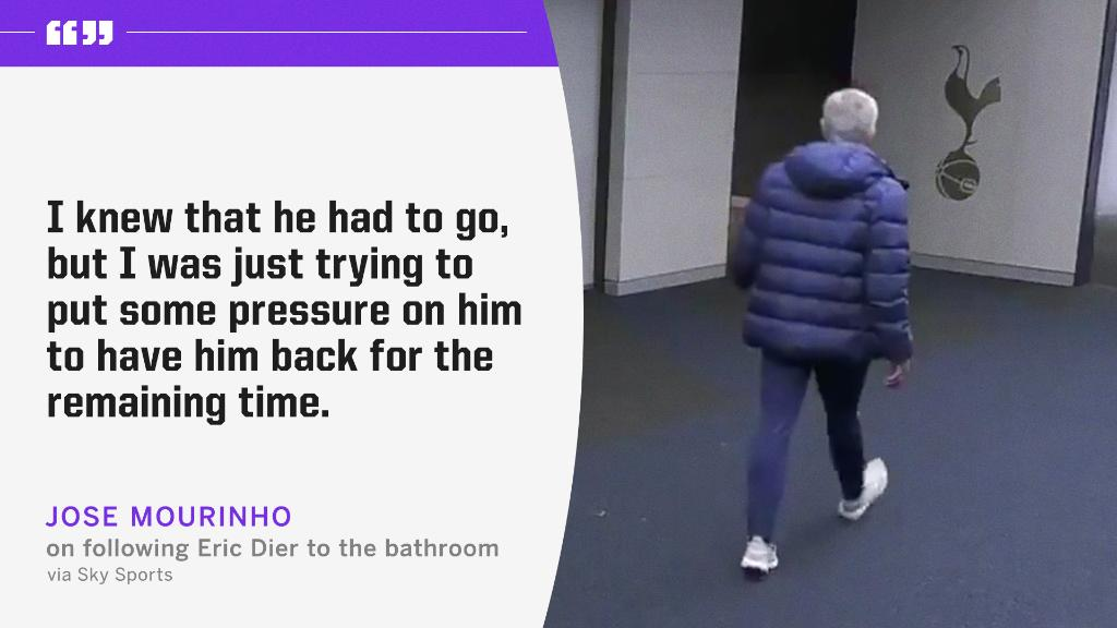 Jose Mourinho explains why he followed Eric Dier to the bathroom 😂