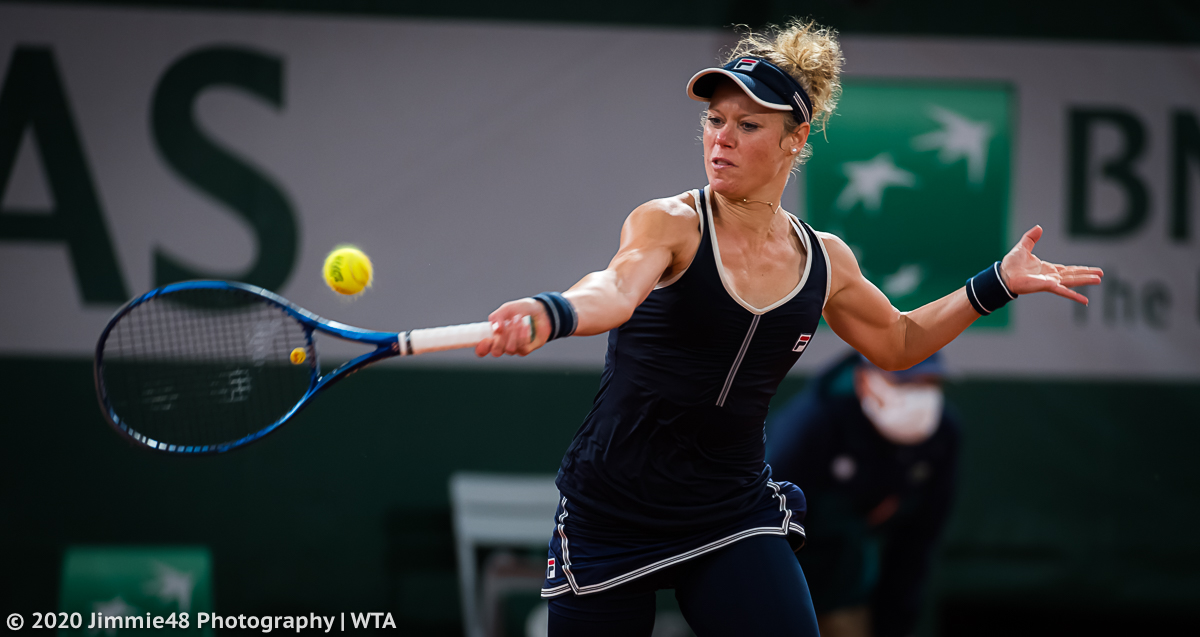 .@laurasiegemund in action inside Chatrier on Tuesday https://t.co/UseHNQVn3w