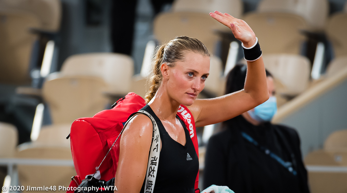 Kristina Mladenovic walks off Chatrier after losing her #RG20 first roound match https://t.co/GfDt5WI8UK