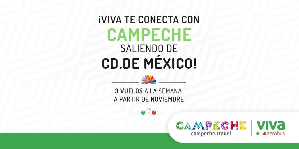 ✈️ ¡Seguimos conectando a Ciudad de México! Inauguramos en compañía del Gobernador del Estado de Campeche, @AysaGonzalez y nuestro CEO, @JCZuazua las nuevas rutas #Campeche y #CdDelCarmen desde México. Ingresa aquí. 👉 https://t.co/CMCqEfsLZX https://t.co/rH414t4j1X