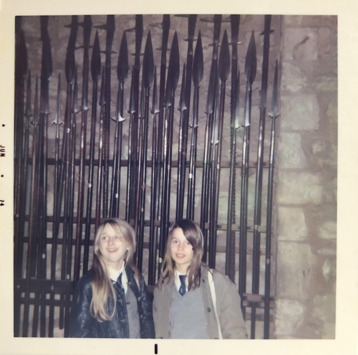 Me and my best friend, Bridget (yes, THE Bridget, if you have read #othergirlslikeme) on an @TestbourneCS school trip in the #1970s. Look at that mischievous smile, you can see why I adored her! #bestfriends #schooldays @BedazzledInk #Girlpower https://t.co/rhBaAgR0w2