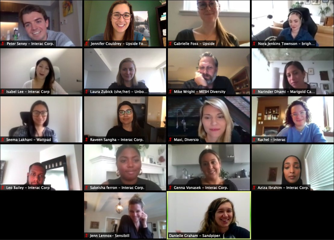 Thank you to our Innovation Partner @INTERAC for hosting an online discussion with us tonight on Equity & Empowerment, and to @NoraJKS @LZubick @yenrabf @narinderdhami @seemalakhani @JennFitzsimmons @daniellebgraham as well as @peterseney93 and the Interac team for participating! https://t.co/dKmm6wGPZe