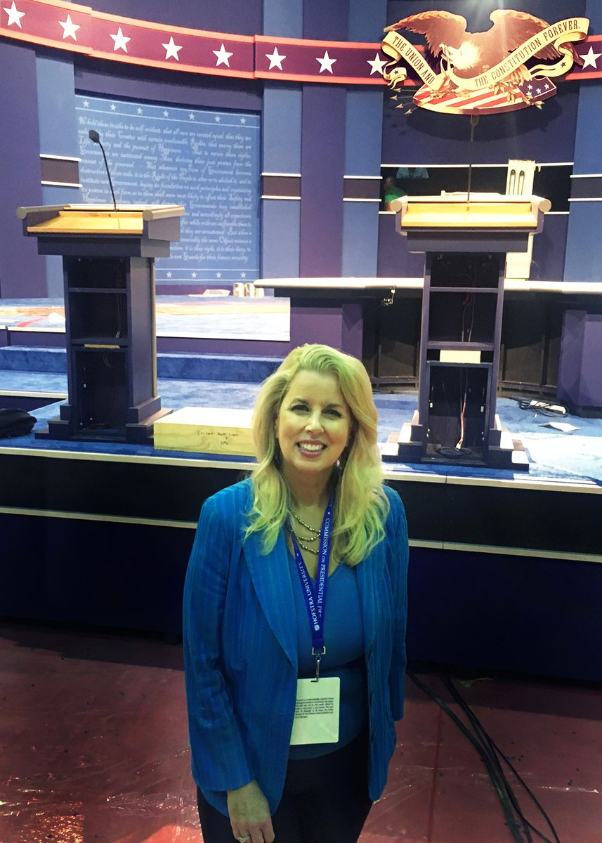 """Getting ready for #PresidentialDebate2020 as I've covered many of them! Remember this interesting scoop I got from a #PresidentialDebate in 2016? #PodiumGate made lots of headlines! No need to """"tweak"""" height of one of the #podiums for tonight's #debate with #Trump versus #Biden! https://t.co/k4v3wLhDSy"""