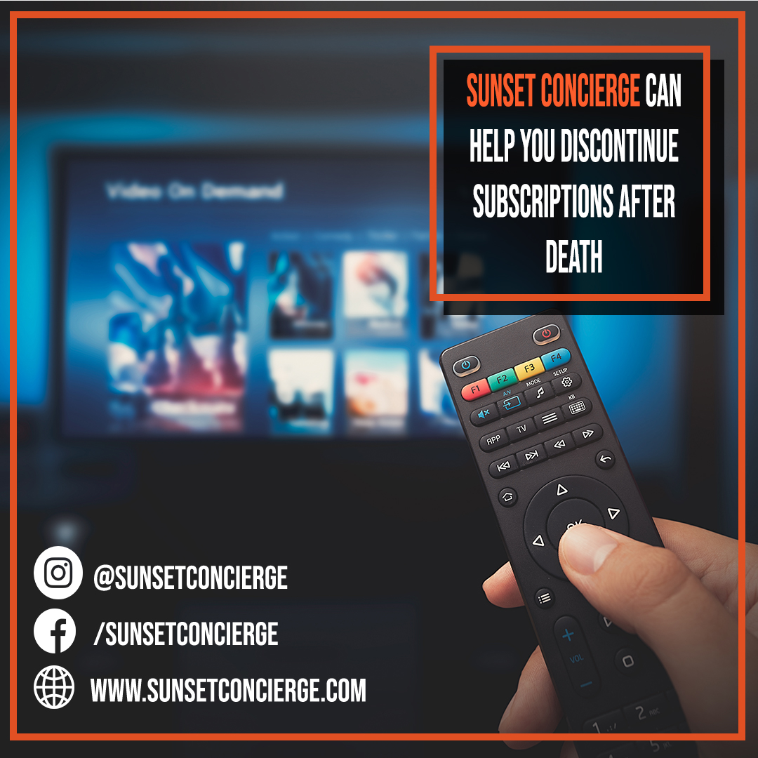 Sunset Concierge can help you with canceling subscriptions after the death of your loved one.  #sunsetconcierge #made2blossom #sandwichgeneration #business #coronavirus #corona #stayhome #netflix #subsciption #spotify #hbo https://t.co/85uaRGNRA8