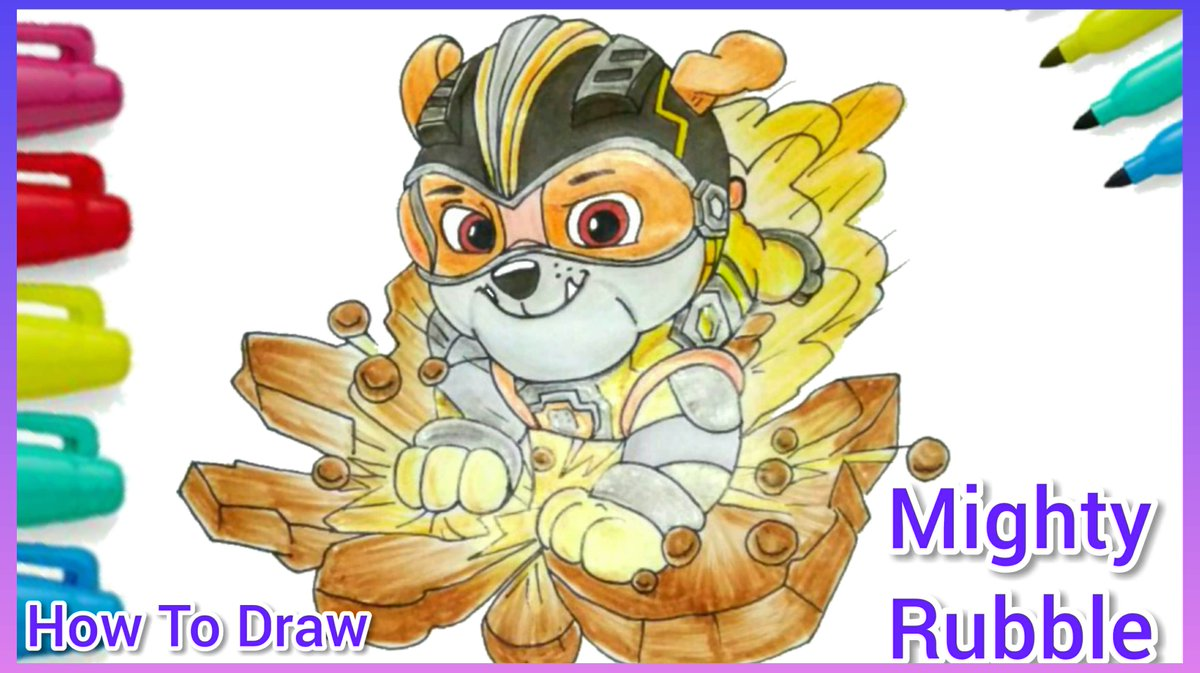 #drawing #drawingwhileblack draw #Mightypup #Rubble  #pawPatrol  nikelodeon https://t.co/pbS54zRsgD https://t.co/GFSznlQLUY