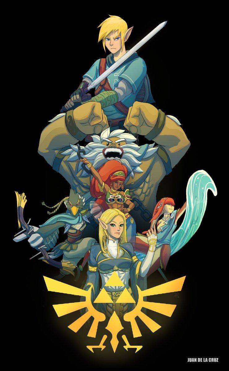 Zelda: Breath Of The Wild Fan Art  #ZeldaBreathoftheWild #Nintendo #fanart #games #HyruleWarriors #artist #artwork #digitalart @NintendoAmerica https://t.co/nz7FQiFZ6I