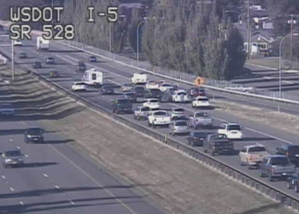 Image posted in Tweet made by WSDOT Traffic on September 29, 2020, 11:37 pm UTC