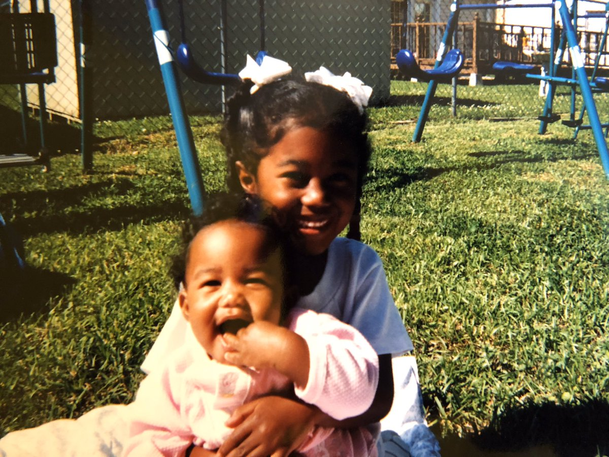 My little sister is honestly the light of my life.  Happy 23rd Birthday Baby Boo ❤️ #ThenAndNow https://t.co/omS529OqSF