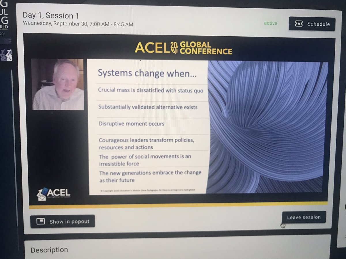 When the paradigm no longer works, that will not be enough to change the paradigm. The appearance of an attractive/viable alternative is what will bring about change... T. Kuhn @MichaelFullan1 #acelglobal2020 @ACELWA @acelaustralia https://t.co/f17AmKtiUJ