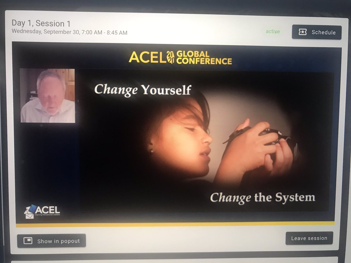 Change yourself; change the system.  (Change with a group, change faster). @MichaelFullan1 #acelglobal2020 @acelaustralia @ACELWA https://t.co/RYGzQxry36
