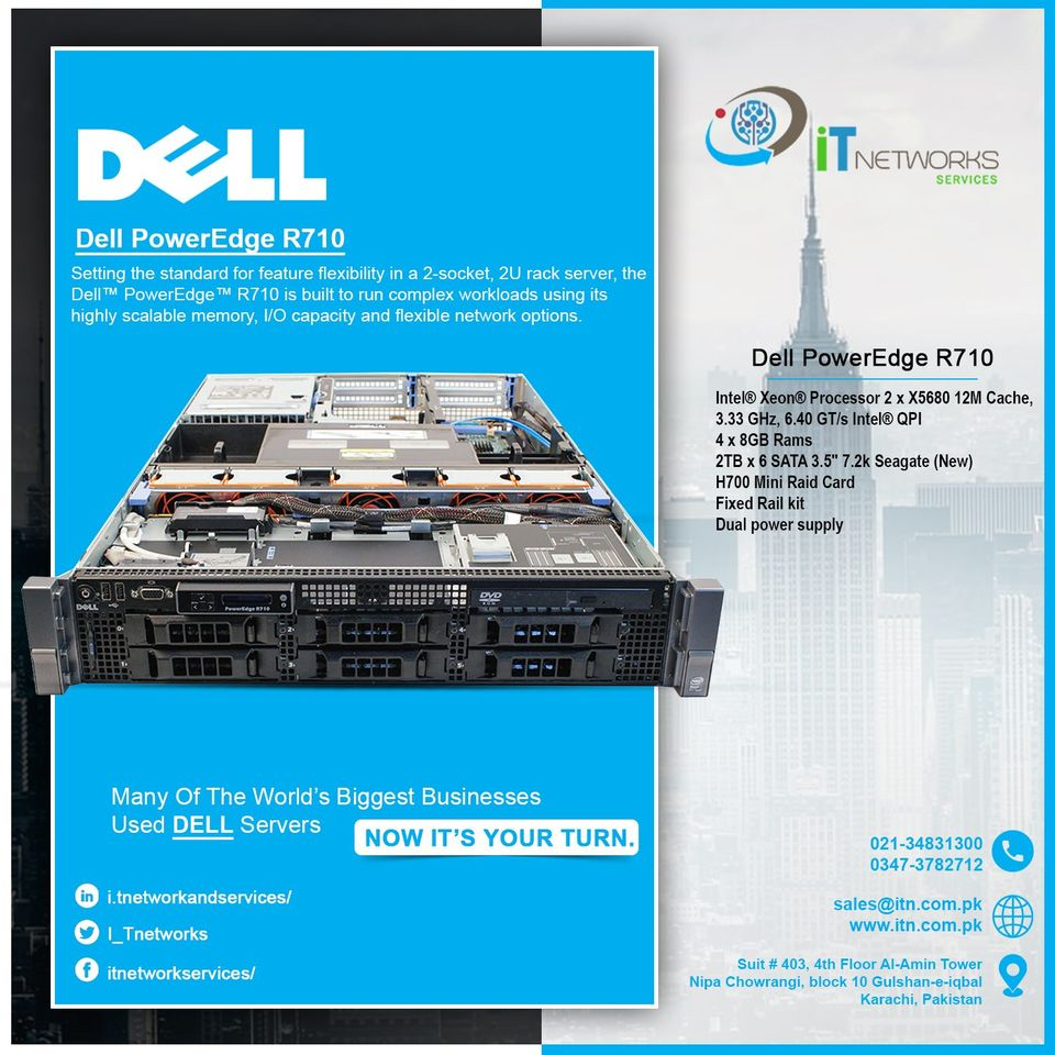 Dell PowerEdge R710 Server.  More in #stocks #Hp &#Dell #servers, #Cisco Routers, Switches, Firewalls, IP-Phones, #Linksys Routers, Access Point, #Grandstream #Networking Products & Other #Accessories  #Dell #PowerEdge #Xeon #Servers #card #HP #network #marketing #itnetwork https://t.co/FqbDNWFgv1