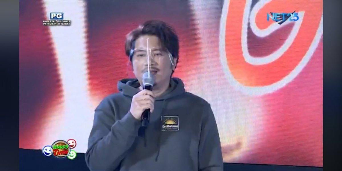 Sumilip ako sa #happytime #net25 mukang ok cya at may mga guest mga.koreano hahahaha https://t.co/pmoEbyTSjx