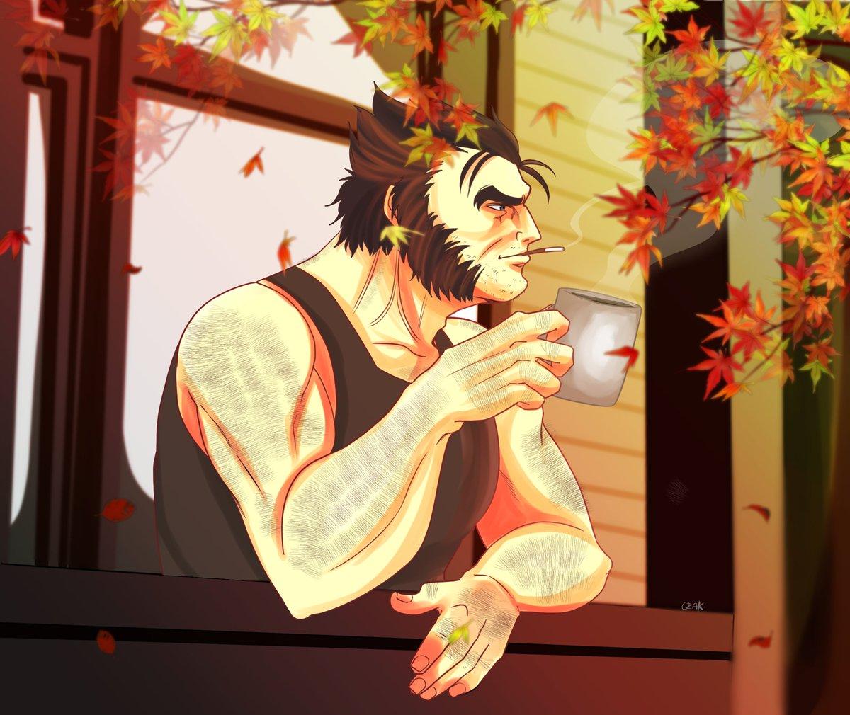 ☕️🍂 #Wolverine #WolverineWednesday #NationalCoffeeDay