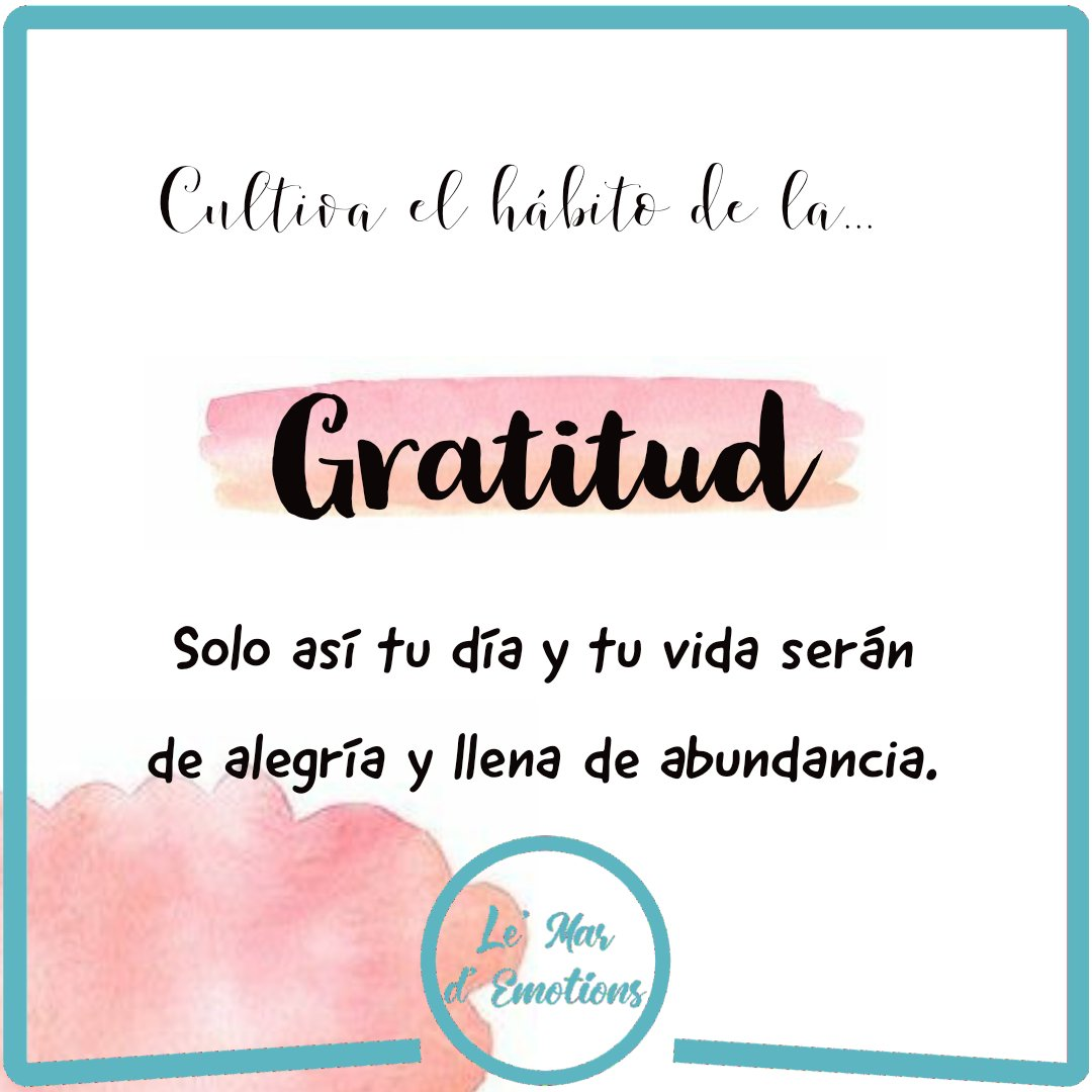 Te invito a echar un vistazo a mi nueva entrada sobre la #gratitud como podemos implementarla en nuestra vida y los beneficios que nos trae.  https://t.co/strpT6ONPW   #emociones #SaludMental #bienestar #escritos #blog #agradece #Dios #fe  #sentimientos #humildad #positivo • • https://t.co/pEGbIf4IUT