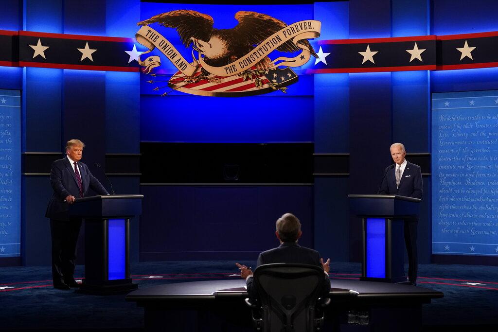test Twitter Media - #Elecciones2021A las 19 horas inició el debate presidencial entre el republicano y actual presidente de EE. UU. Donald Trump y el demócrata, Joe Biden.Foto AP https://t.co/YGvOlPsCKi