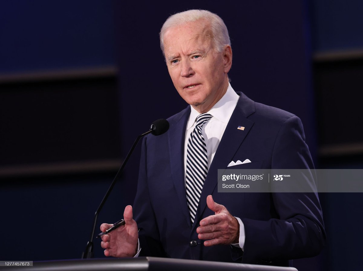I've seen enough. @JoeBiden won this debate hands down. His temperament, composure and command of the issues showed he is the Commander in Chief we need in these turbulent times.   RT if you agree. https://t.co/u43q7hxCsK