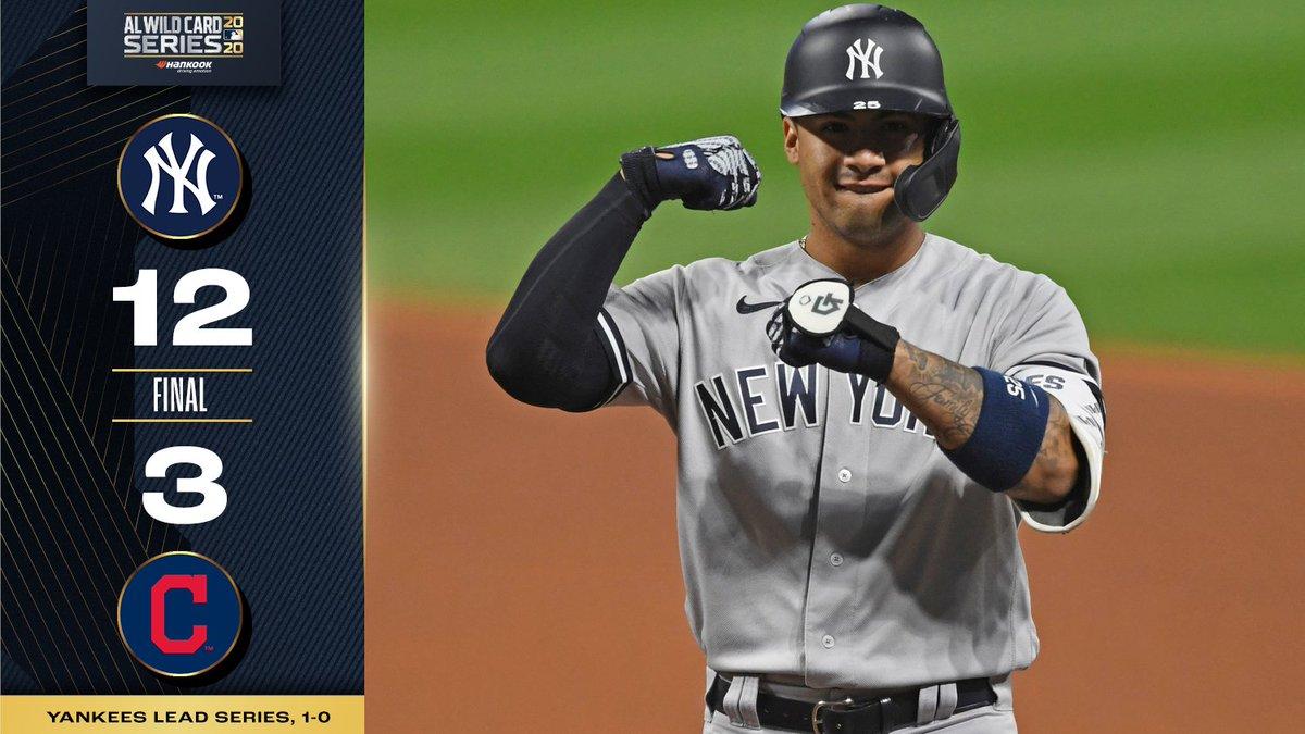 Yankee domination. 💪 #Postseason https://t.co/OMw1as3er8