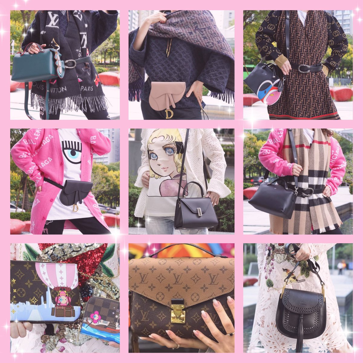 #Chloe。#LV。#Gucci。#Fendi。#VALEXTRA。#Dior。#CF 眨眼👀。 https://t.co/RJKduC2Jco