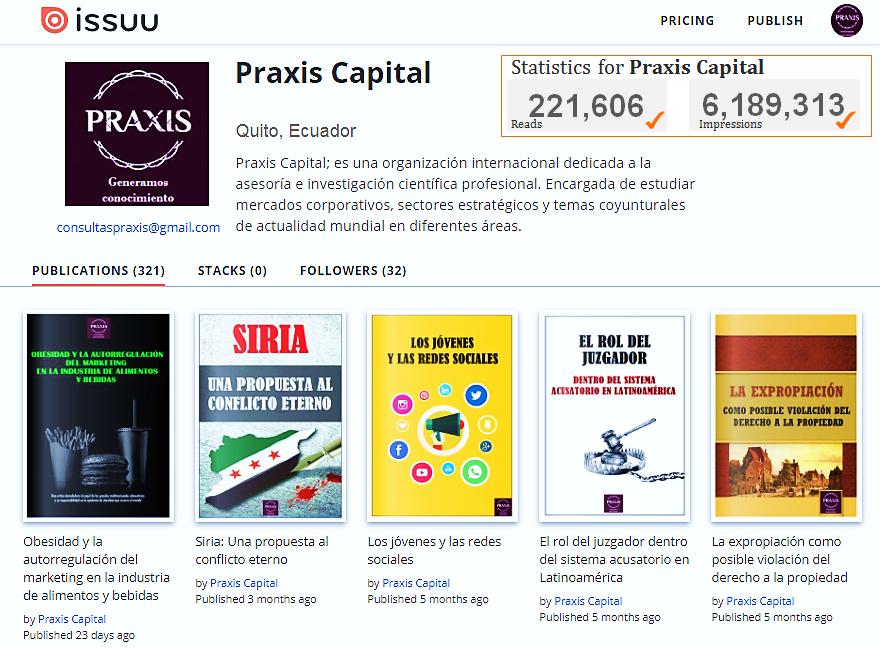 En @CapitalPraxis mantenemos a nivel #mundial, 221 mil lectores y 6.1 millones de impresiones frente a nuestras #InvestigacionesCientíficas. https://t.co/8dNNftYX2U