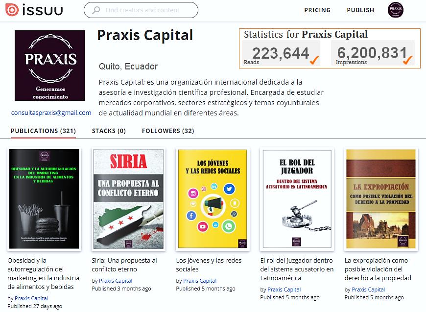 En @CapitalPraxis mantenemos a nivel #mundial, 223 mil lectores y 6.2 millones de impresiones frente a nuestras #InvestigacionesCientíficas. https://t.co/J6xUt4jWXO