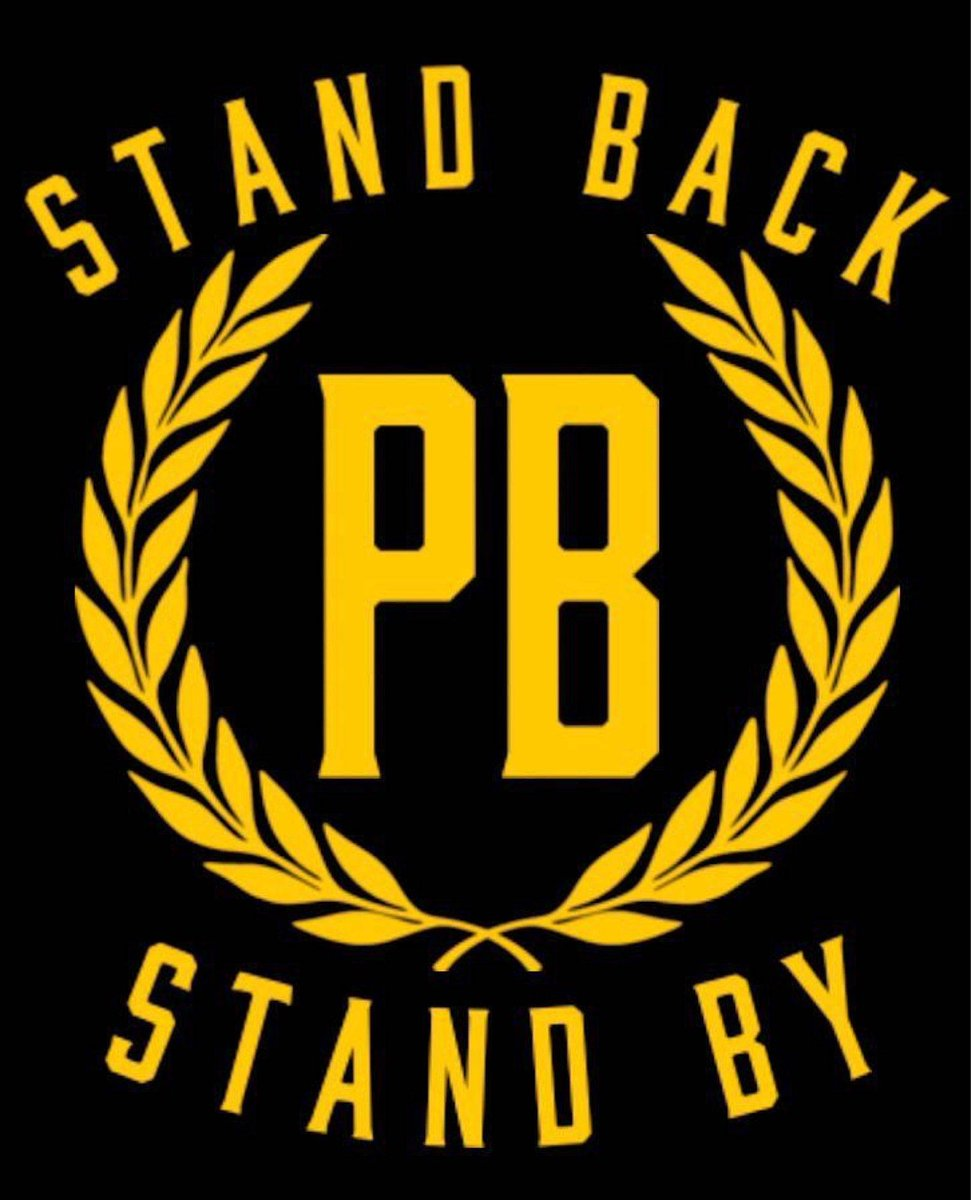 The Proud Boys are now sharing the group's logo with the president's words emblazoned like a slogan. https://t.co/T3tp286YRa