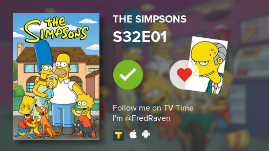 I've just watched episode S32E01 of The Simpsons! #TheSimpsons  #tvtime https://t.co/b6CxmnTSF6 https://t.co/swCfzz6uze