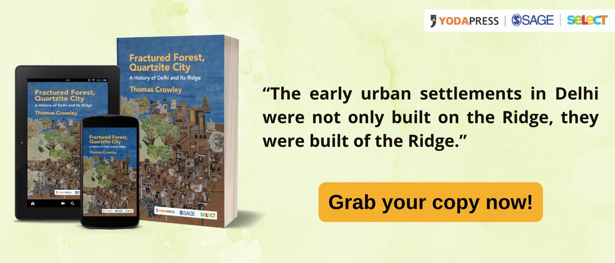 A lucid, and well-researched book on the #Ridge, often referred to as Delhi's 'green lung'. Order your copy @ https://t.co/pSQP6QqJmZ   #SAGESelect #YodaSAGESelect #YodaPress #ThomasCrowley https://t.co/vOe0xZgs1x