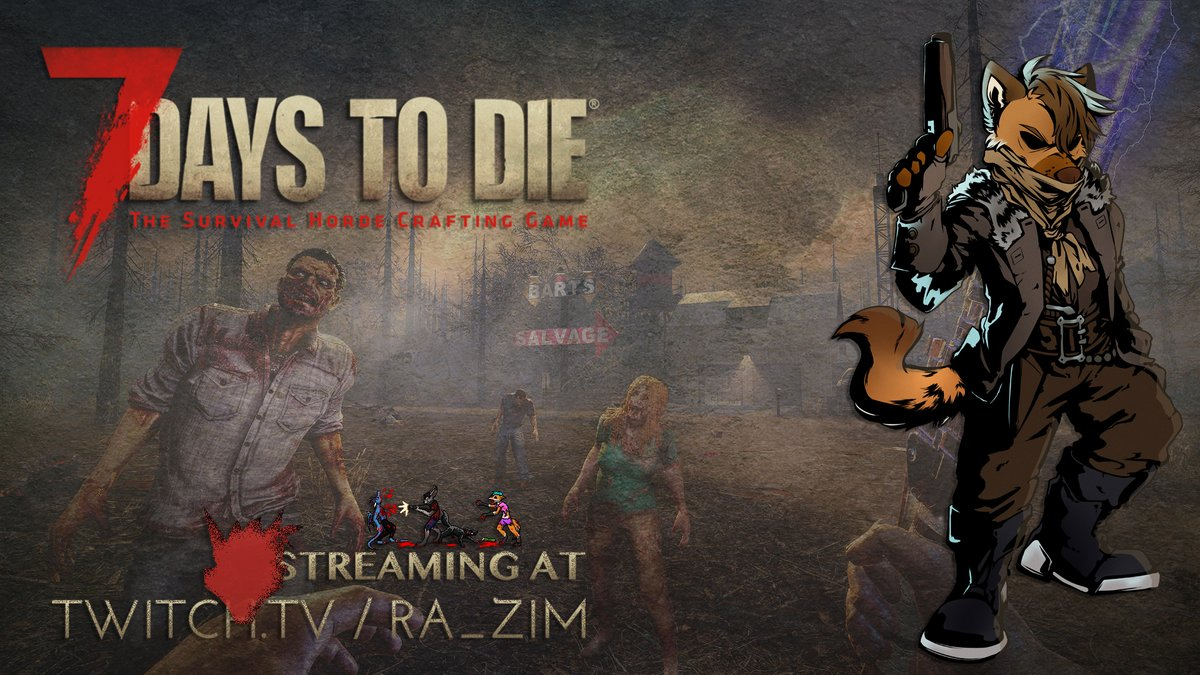 Alright, I'm back from my vacation, I need to reset my sleep schedule, so let's do so with a SUPER EPIC AWESOME STREAM OF TIREDNESS! Streaming 7 Days to Die at https://t.co/mzMqPAqTMq  #SupportSmallStreamers #7DaysToDie #Zombie #twitch #stream #streaming #streamer #twitchtv #live https://t.co/v1dchxLT8b