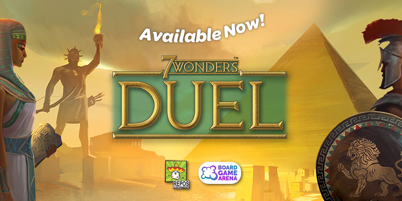 🏛 7 WONDERS DUEL IS AVAILABLE NOW ! 🏛  Do we need to say anything more ?  If so, you can check all informations about this release here : https://t.co/4bnRhbMJo8  #boardgame #J2S https://t.co/1giuDFmxvf