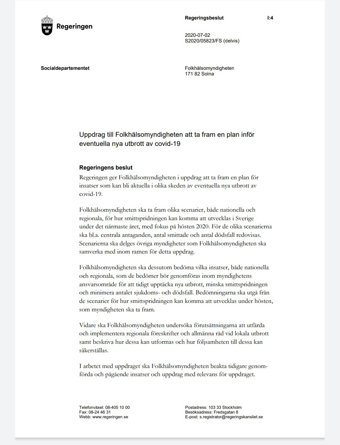 Jana Bergholtz Bytstrateginu On Twitter On 2 July 2020 The Government Gave The Swedish Public Health Agency The Official Task To Prepare Three Potential Covid19 Scenarios For The Fall Winter And Suggest Measures